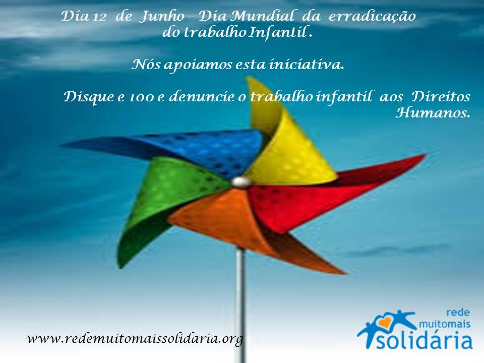 Dia da erradicação do trab infantil - 12-jun15